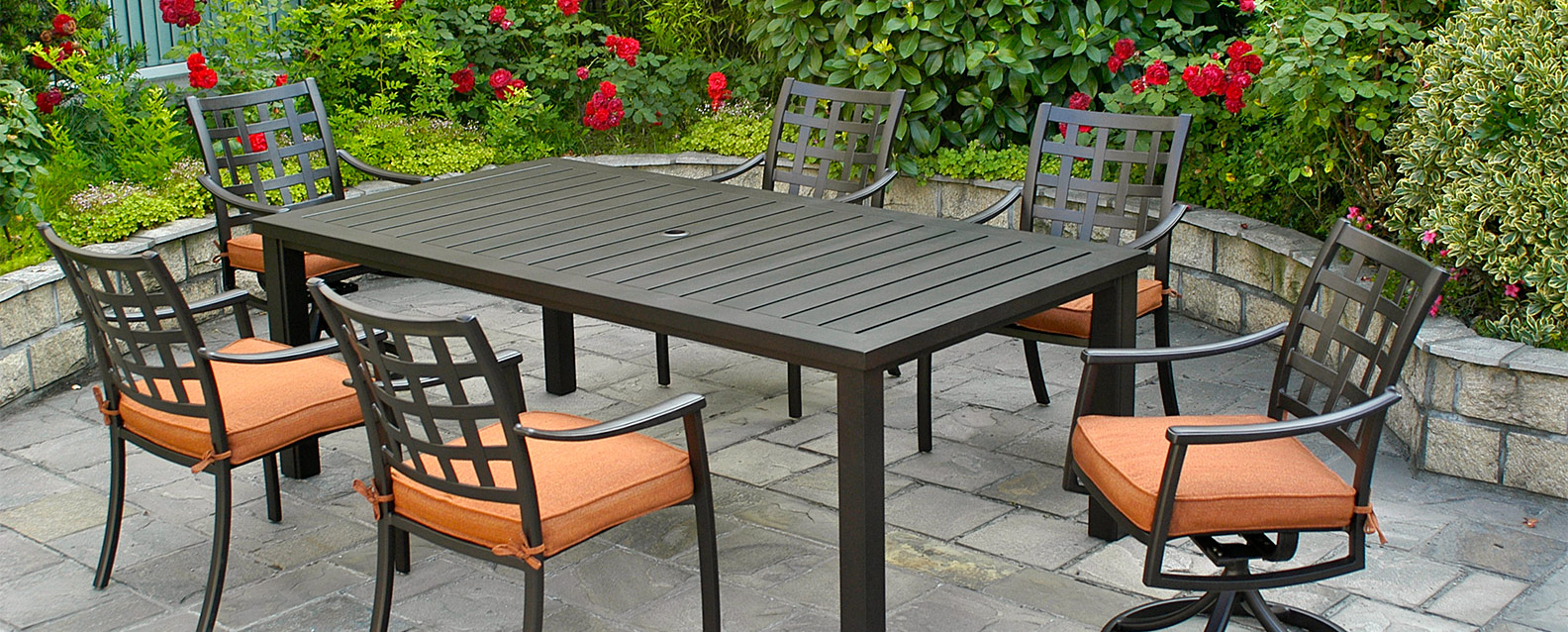 Hanamint Stratford Dining Summer House Patio within size 1584 X 638