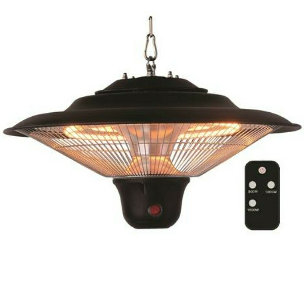 Hanging Patio Heater Indoor Outdoor Electric Remote Infrared Heat Back Yard Deck for sizing 988 X 913