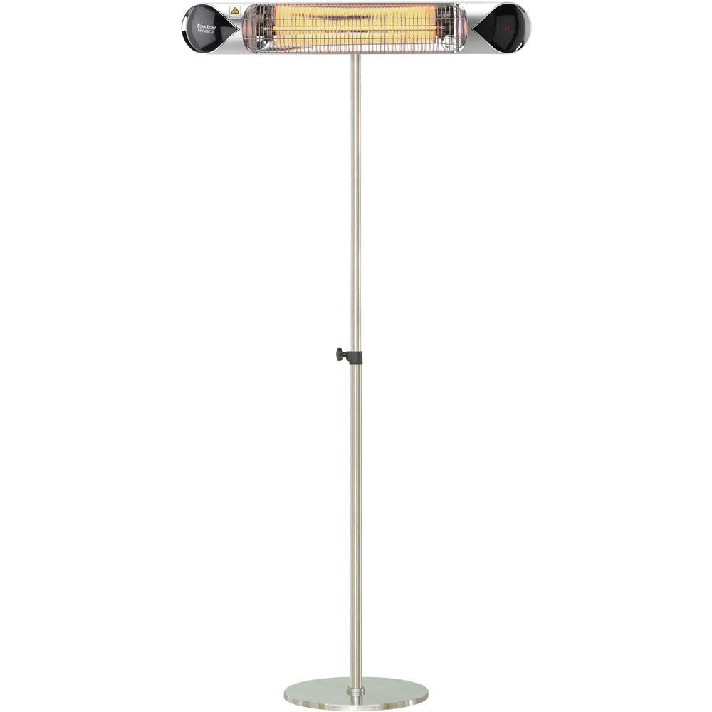Hanover 354 In 1500 Watt Infrared Electric Patio Heater With Remote Control And Adjustable Pole Stand In Silver with regard to dimensions 1000 X 1000