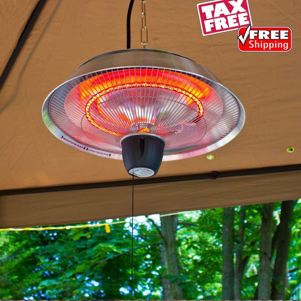 Infrared Electric Ceiling Heater Gazebo Porch Garage Lamps pertaining to dimensions 1000 X 1000