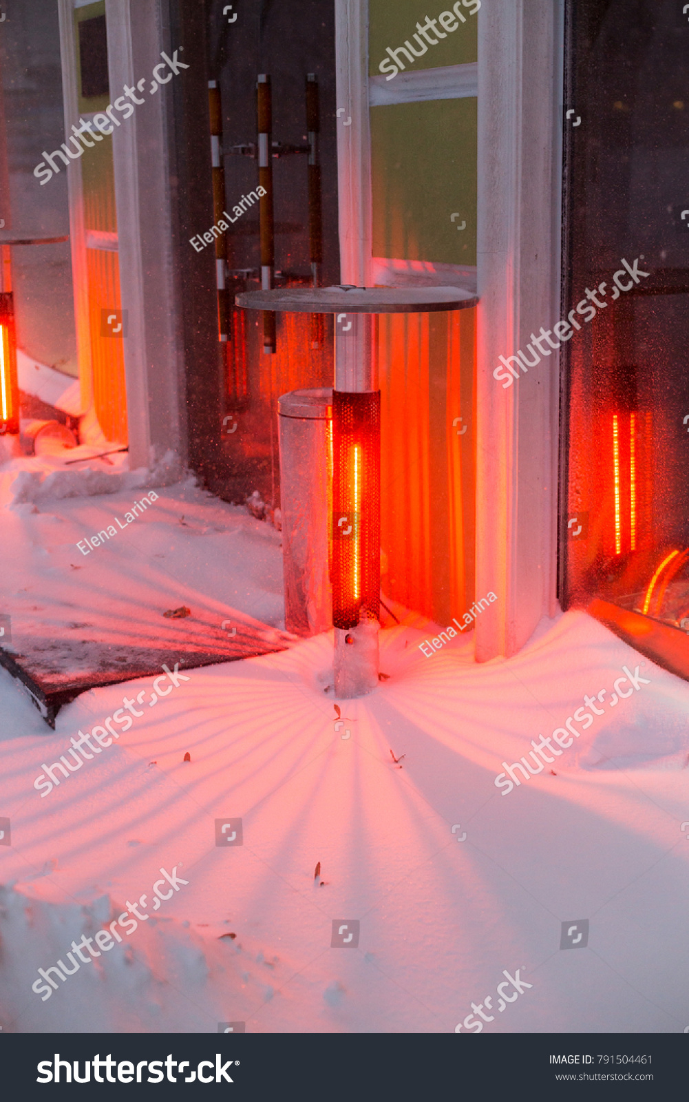 Infrared Outdoor Heaters Open Air On Stock Photo Edit Now pertaining to measurements 1001 X 1600