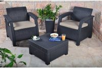 Keter Corfu 2 Seater Balcony Set Plastic Rattan in sizing 1000 X 1000