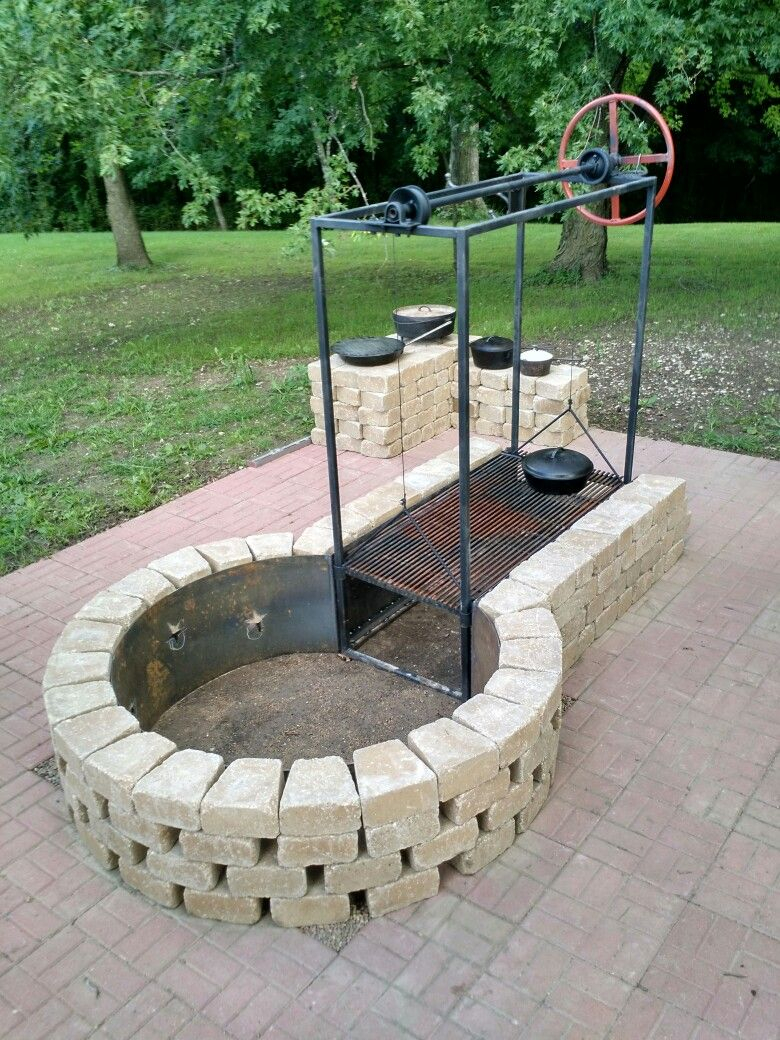 Keyhole Fire Pit With Adjustable Grille Fire Pit Bbq Fire with dimensions 780 X 1040
