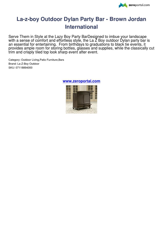 La Z Boy Outdoor Dylan Party Bar Brown Jordan International inside sizing 1060 X 1500
