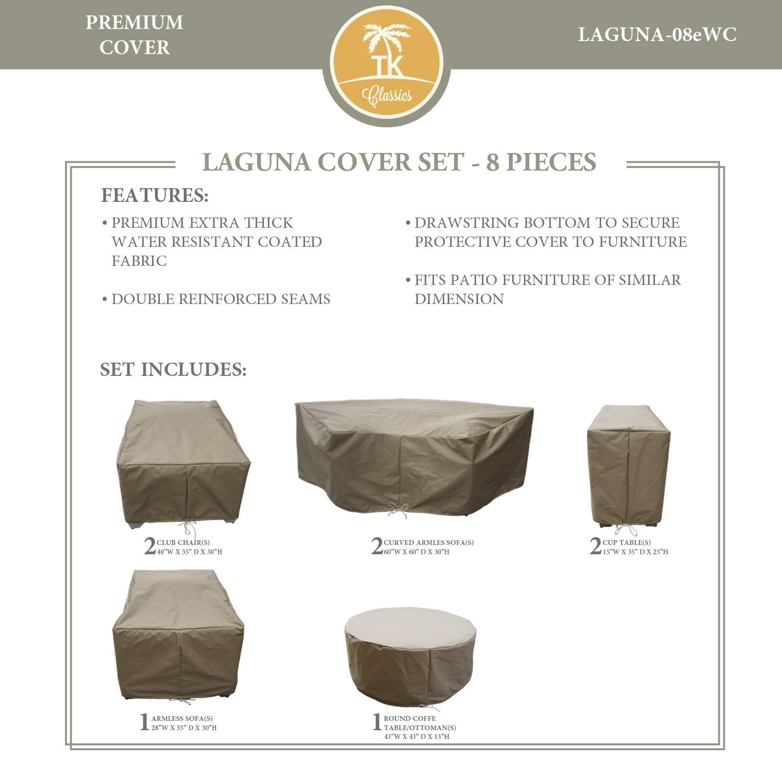 Laguna 08e Protective Cover Set Tie Beige Tk Classics inside sizing 1600 X 1600