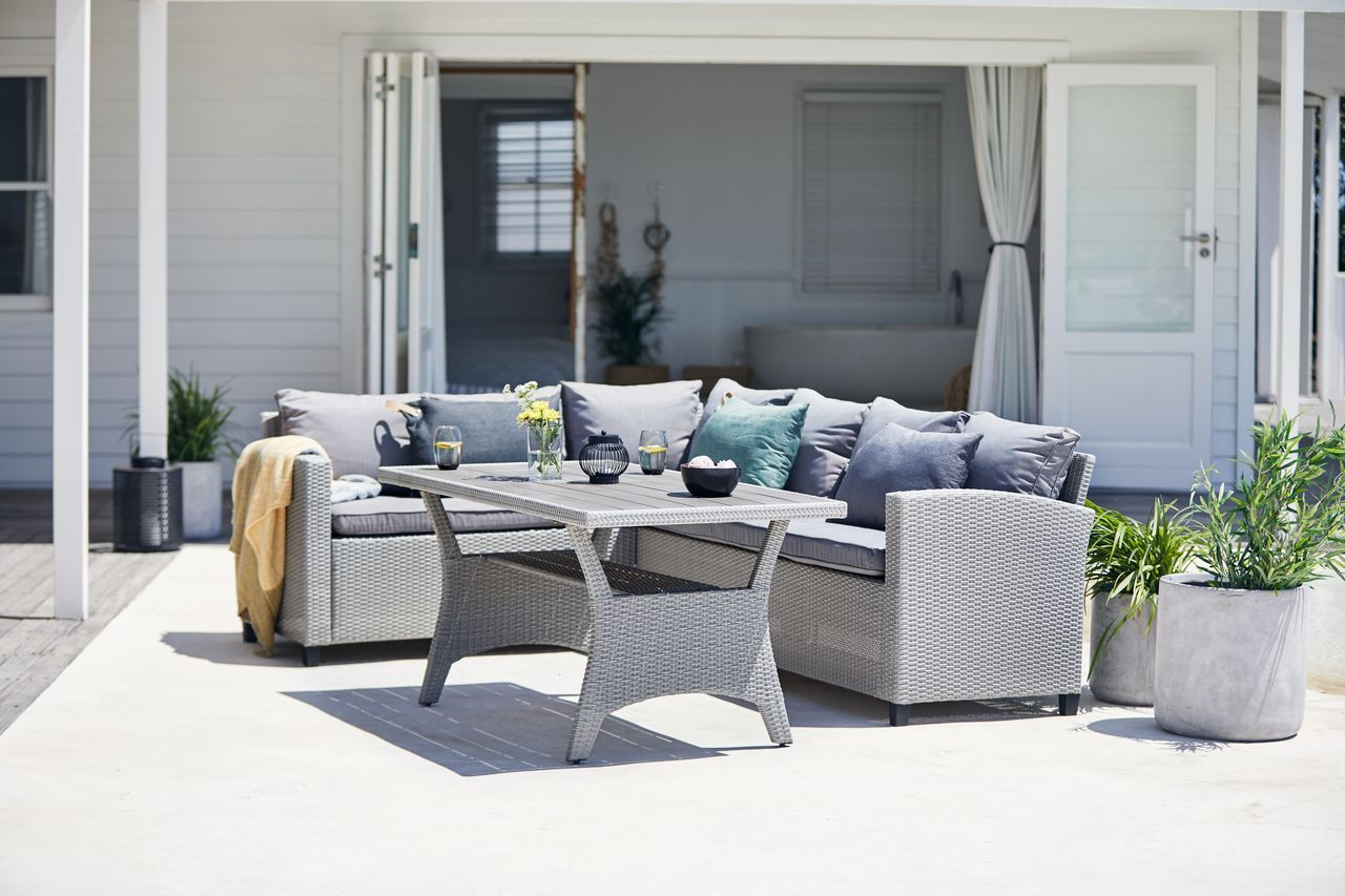 Lounge Set Ullehuse 6 Pers Grey Jysk Furniture Outdoor pertaining to dimensions 1280 X 853