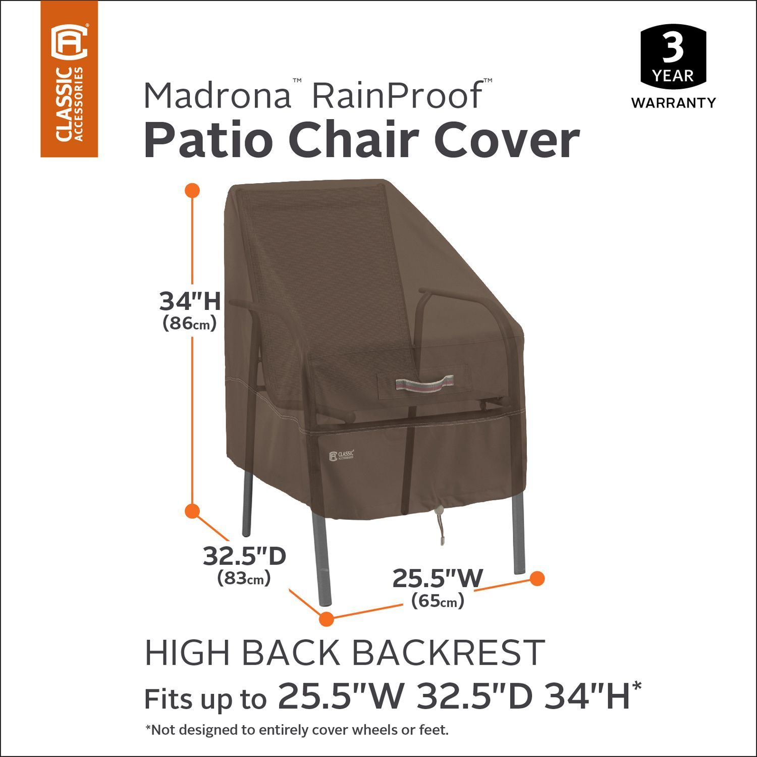 Madrona Rainproof High Back Patio Chair Cover Furniture within size 1500 X 1500