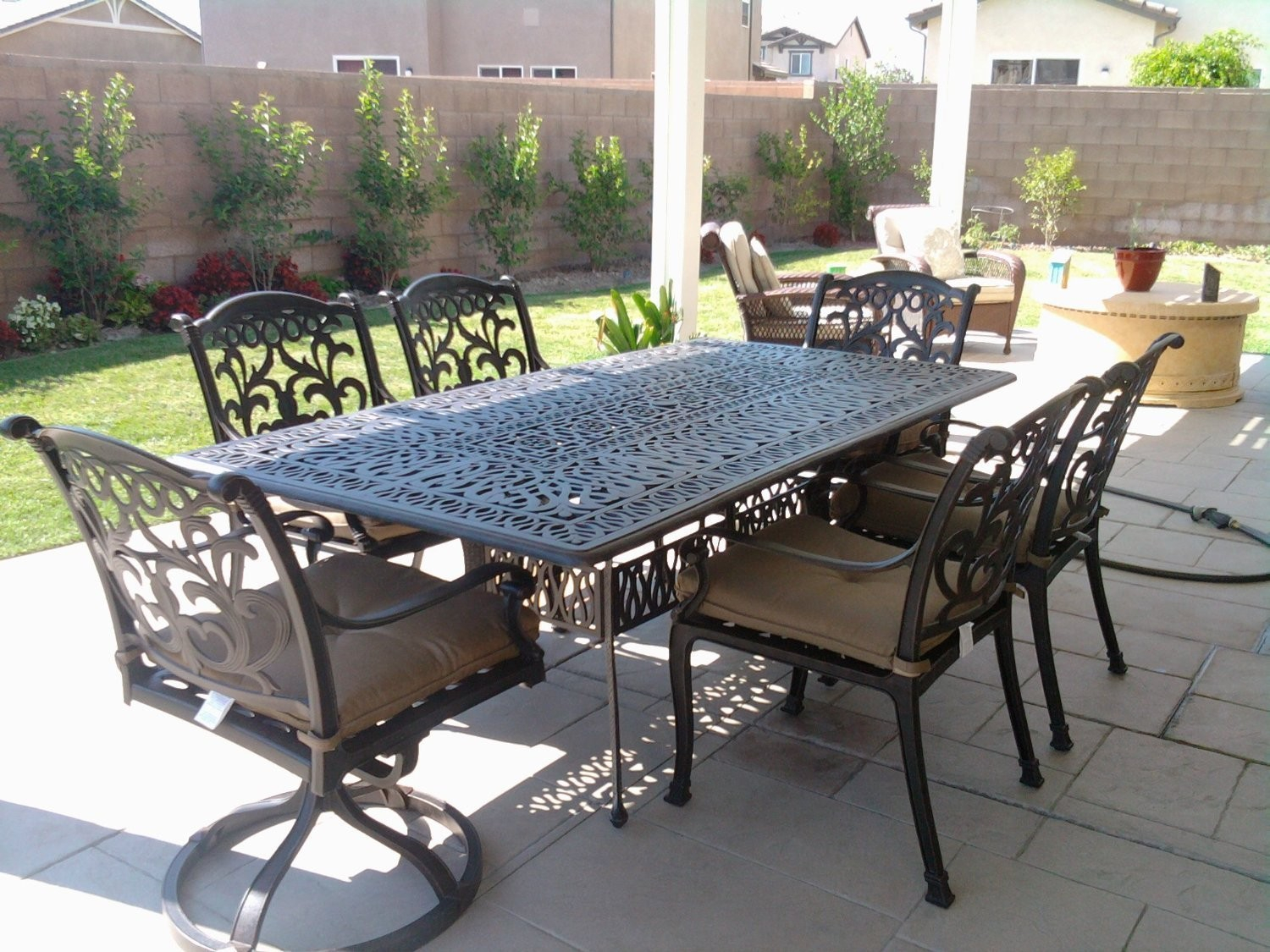 Mandalay Cast Aluminum Powder Coated 7pc Outdoor Patio within dimensions 1500 X 1125