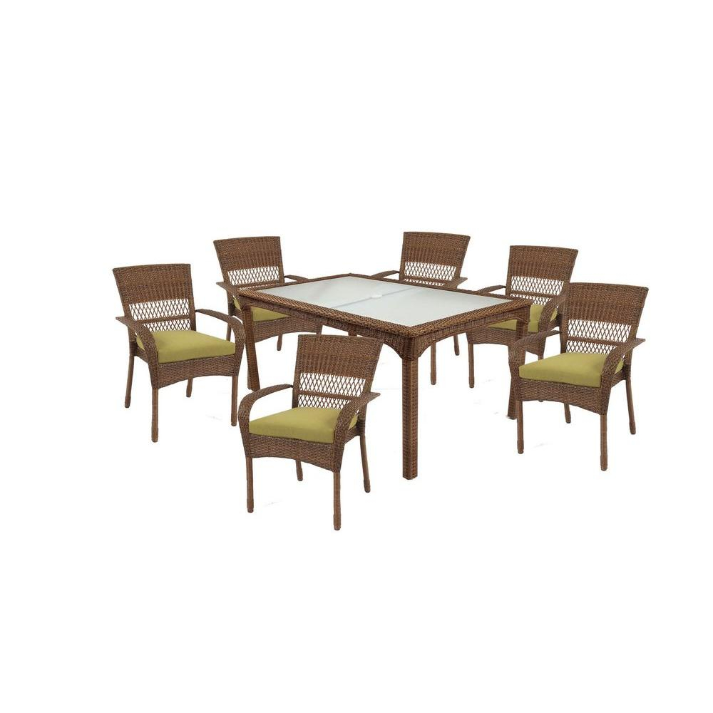 Martha Stewart Living Charlottetown Brown 7 Piece All throughout proportions 1000 X 1000