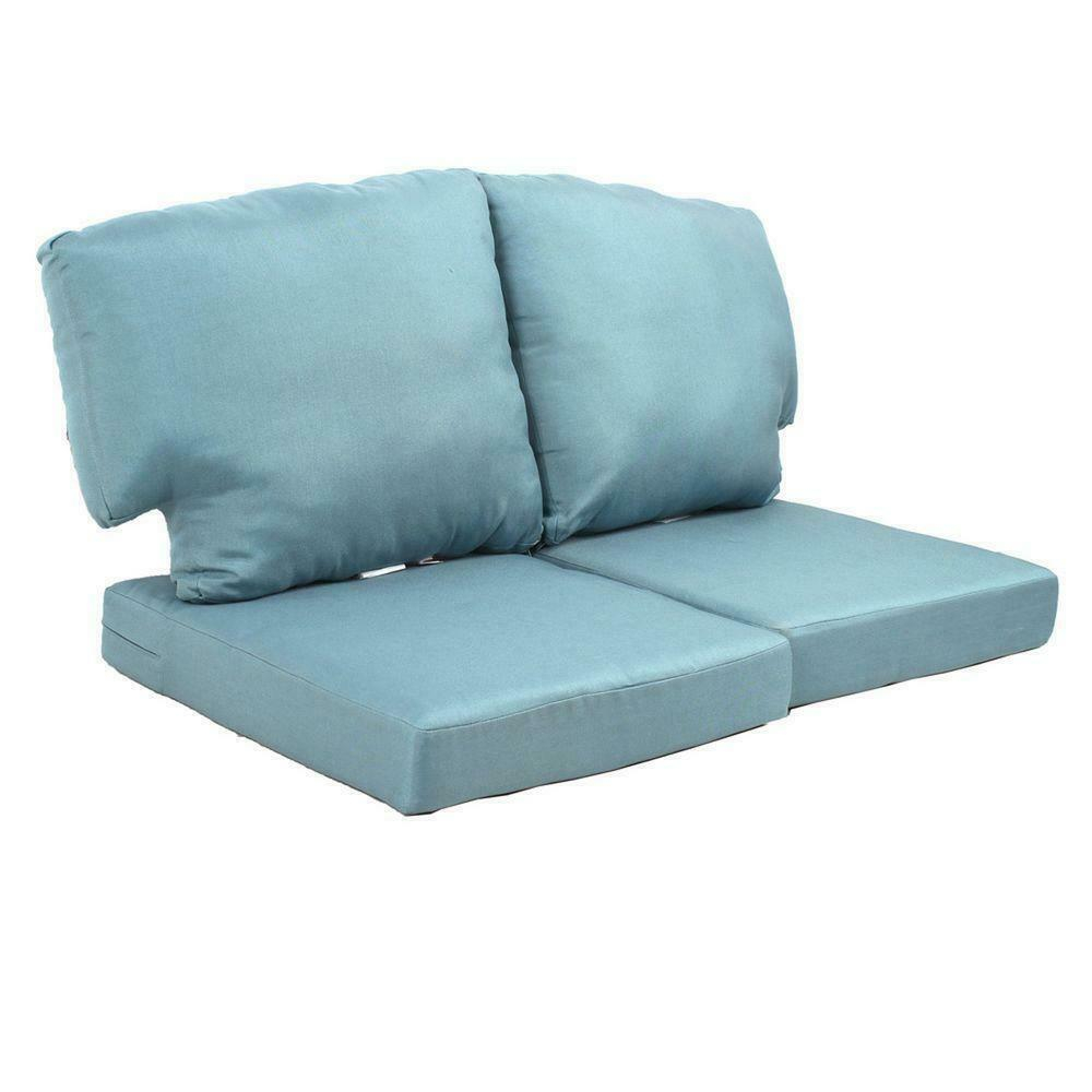 Martha Stewart Living Charlottetown Washed Blue Replacement Outdoor Loveseat with regard to size 1000 X 1000