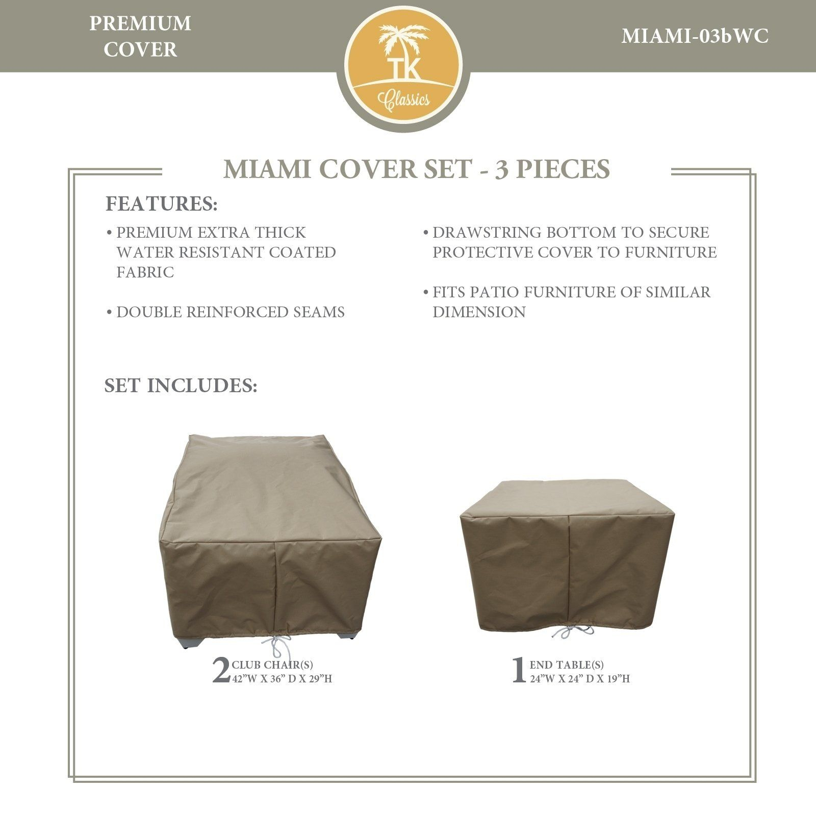 Miami 03b Protective Cover Set Tie Beige Tk Classics in proportions 1600 X 1600