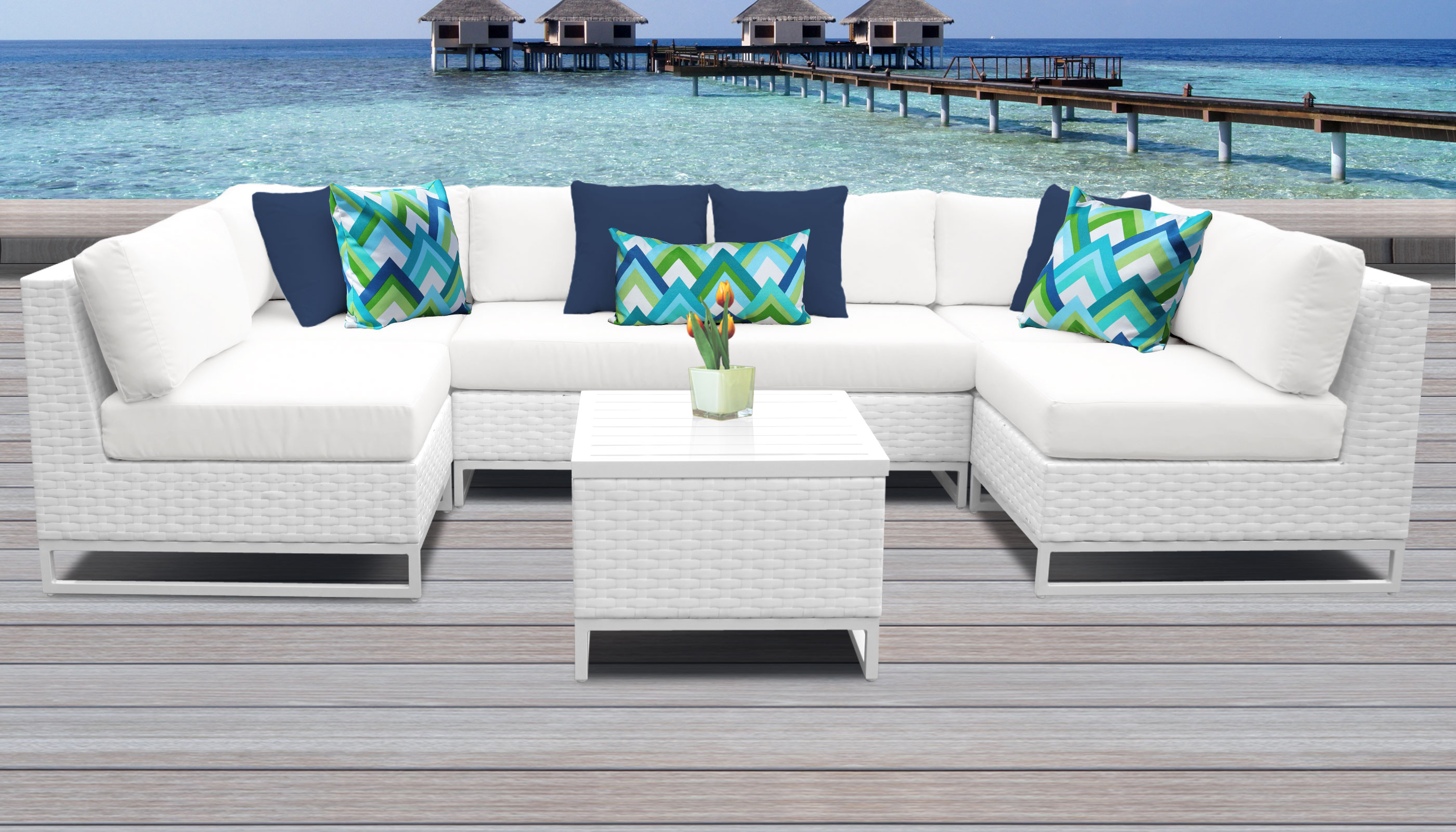 Miami 7 Piece Outdoor Wicker Patio Furniture Set 07d intended for measurements 2800 X 1600