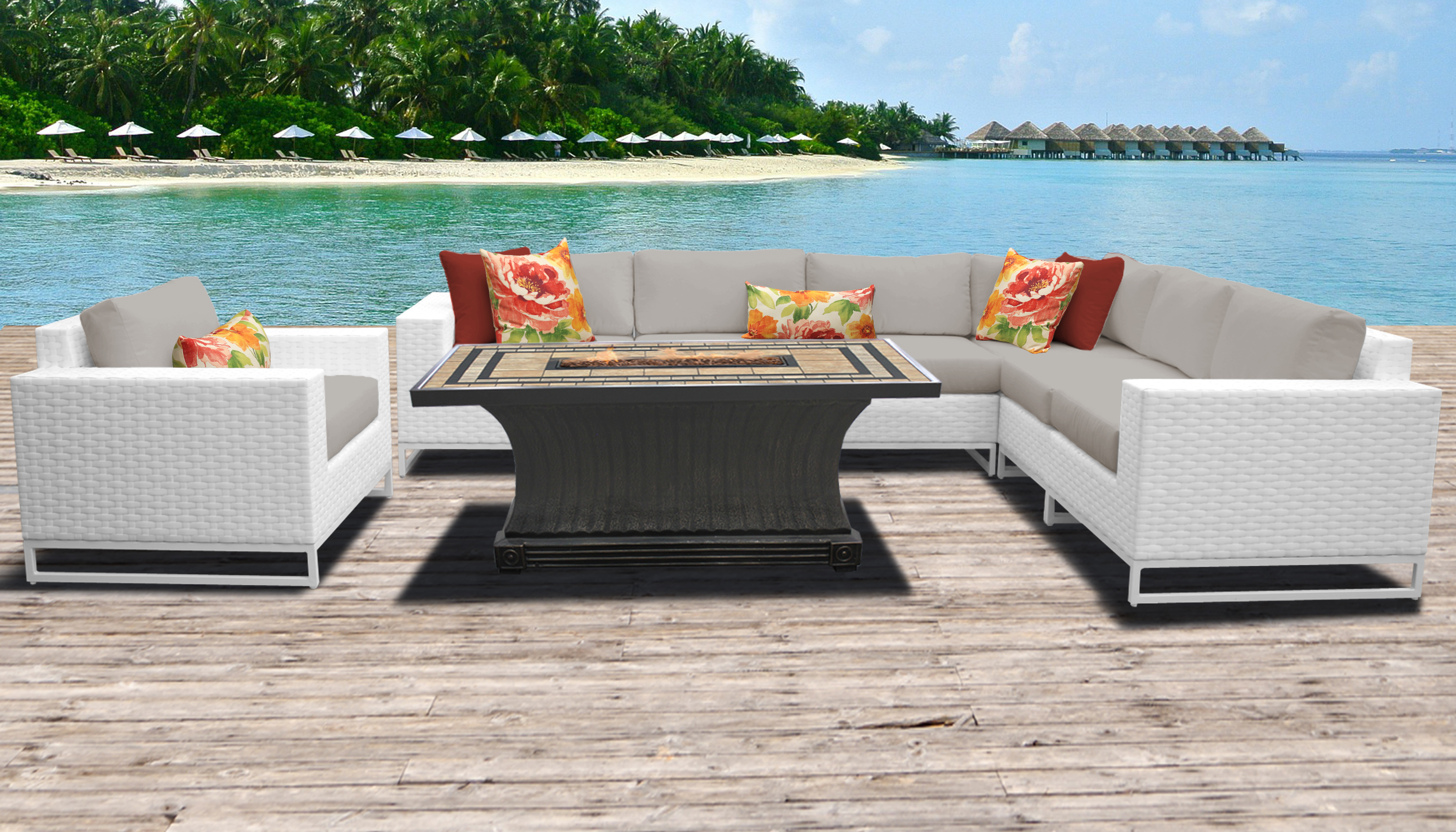 Miami 8 Piece Outdoor Wicker Patio Furniture Set 08d pertaining to sizing 2800 X 1600