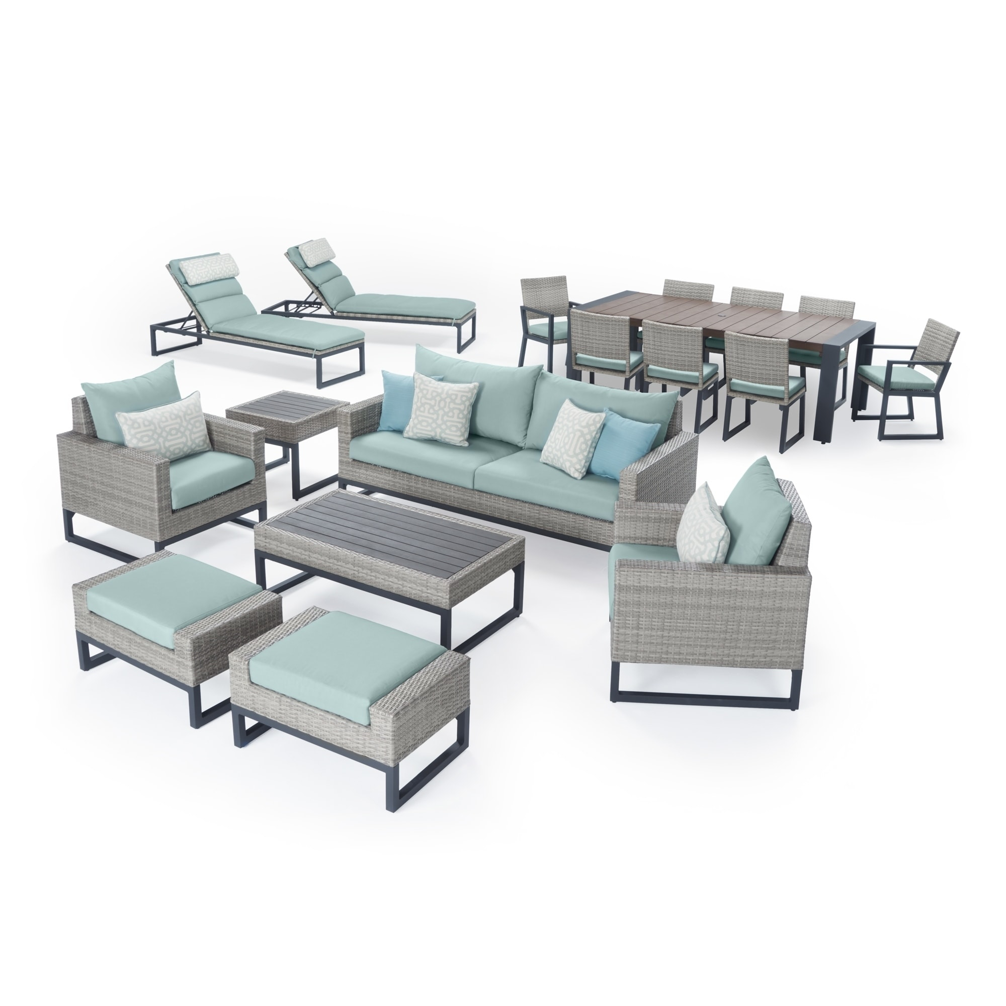 Milo Grey 18pc Estate Set In Spa Blue Rst Brands Outdoor with sizing 2000 X 2000