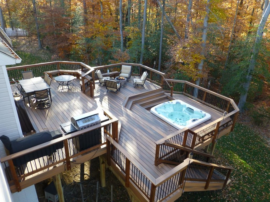 Outdoor Dining Area Sunken Hot Tub Outdoor Seating Area intended for sizing 1024 X 768