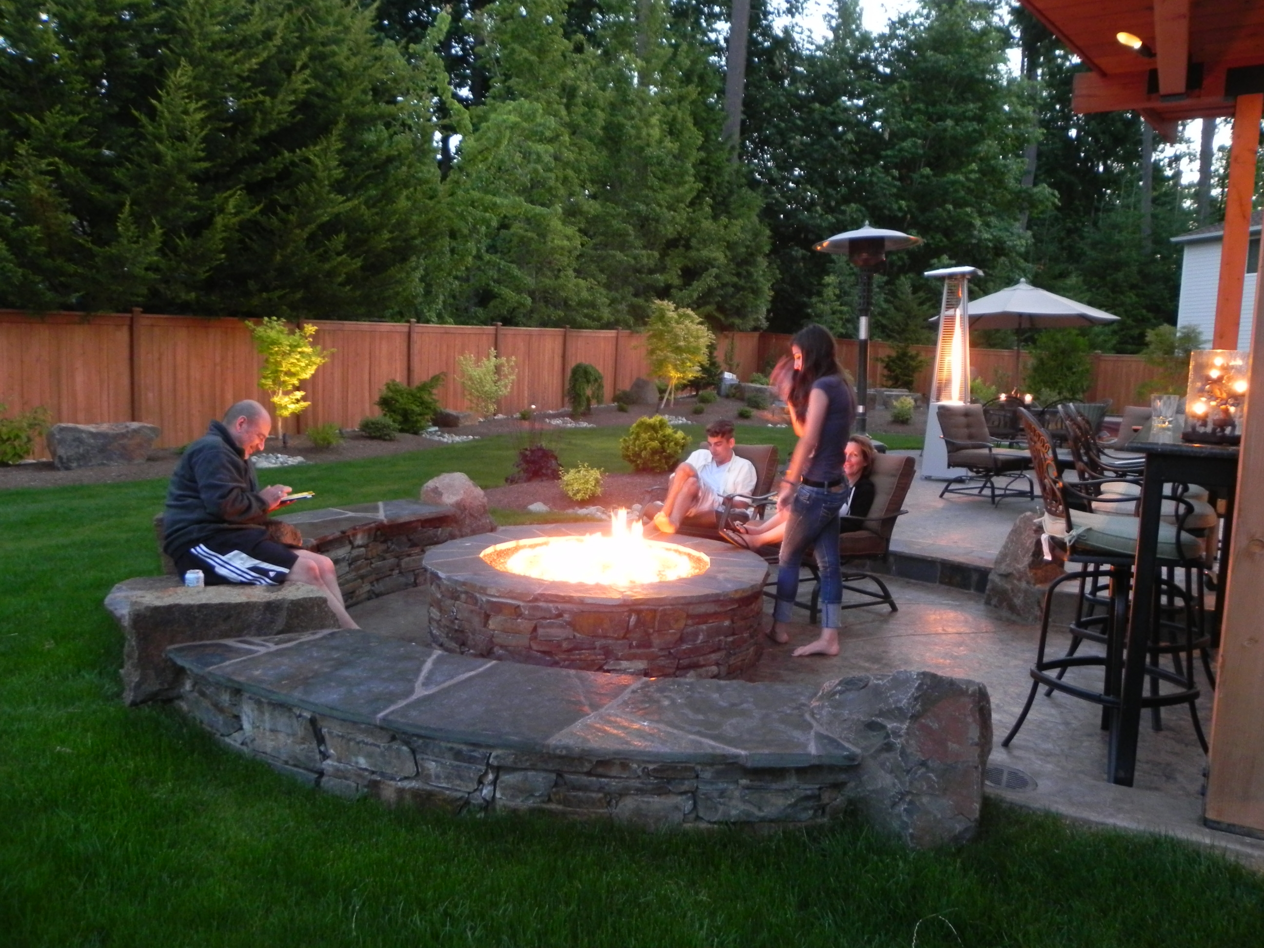 Outdoor Fire Pit Patio Ideas In Ground Backyard Landscaping pertaining to sizing 2592 X 1944