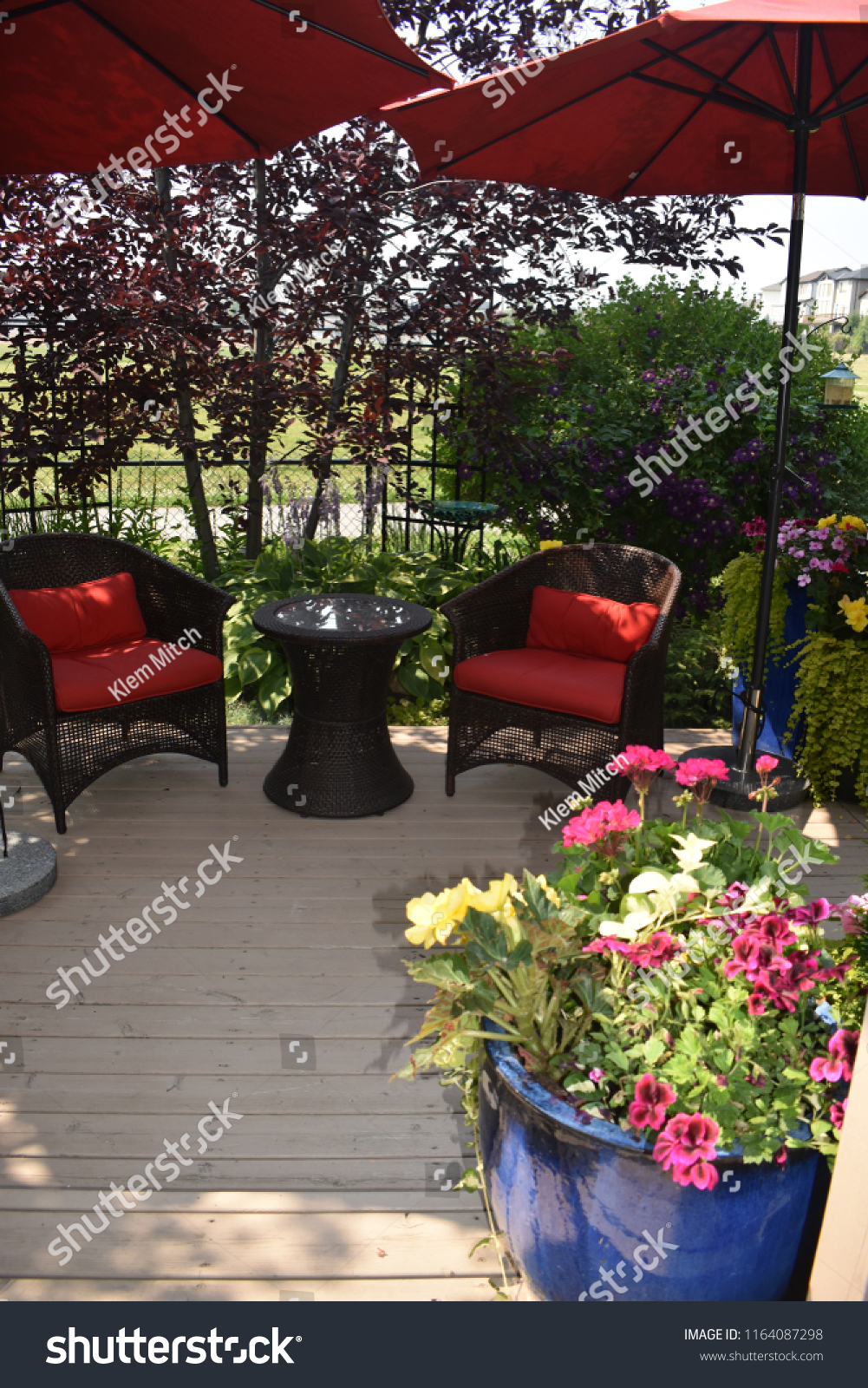 Outdoor Patio Furniture On Deck Summer Stock Photo Edit Now for size 1001 X 1600