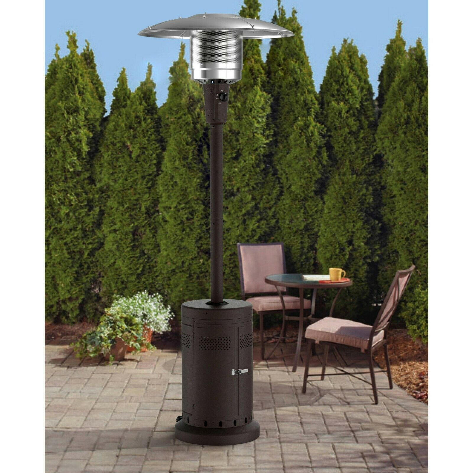 Outdoor Raised Patio Heater Mushroom Large Fire Pit Furniture Garden Deck Tall with measurements 1600 X 1600