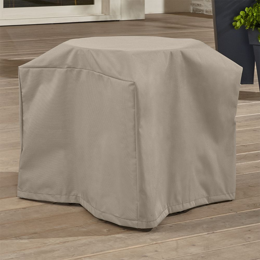 Outdoor Square Side Table Cover Crate And Barrel within measurements 1000 X 1000