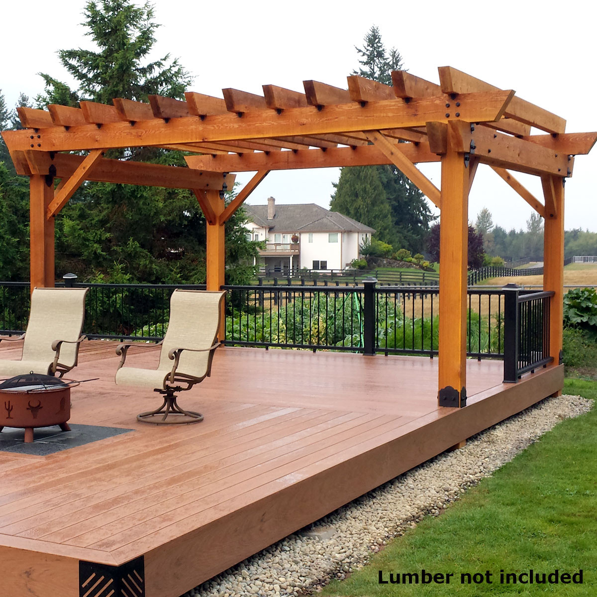 Ozco Project Kit Deck Pergola With 6x6 Posts Laredo pertaining to dimensions 1200 X 1200
