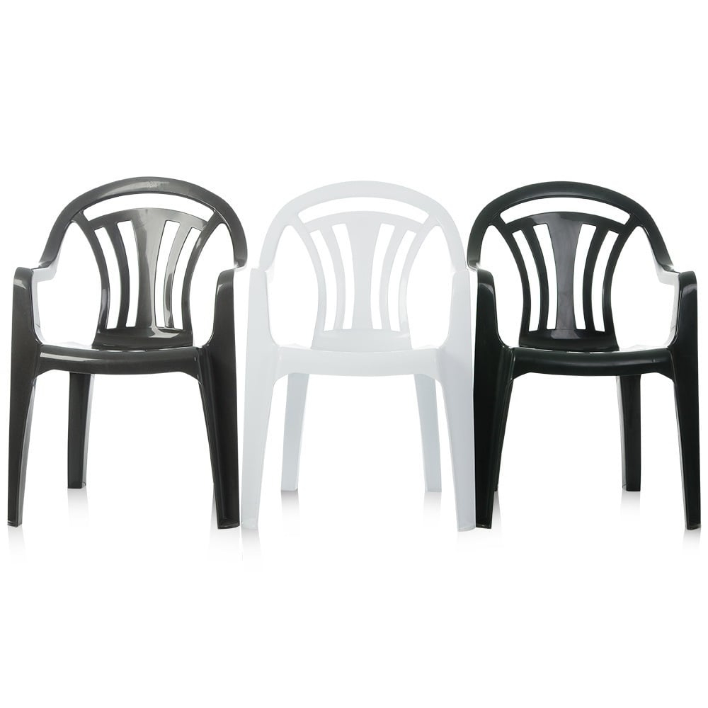 Pallet Deal X 100 Low Back Stacking Plastic Garden Chairs intended for dimensions 1000 X 1000