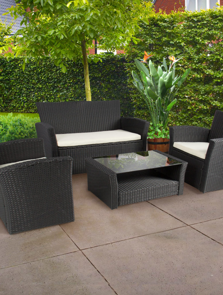 Pc Outdoor Patio Garden Furniture Wicker Rattan Sofa Set throughout sizing 776 X 1028