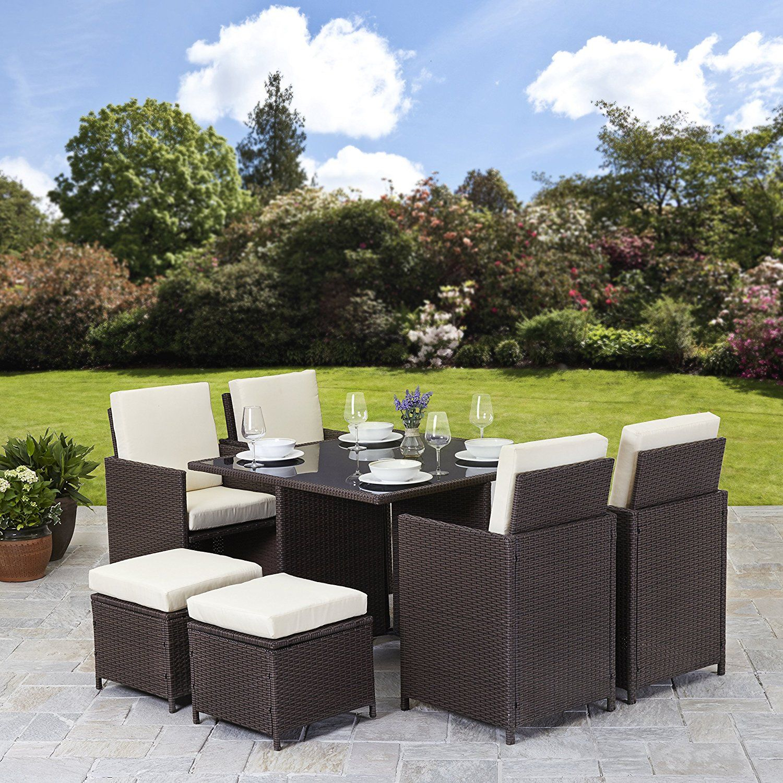 Rattan Cube Garden Furniture Set 8 Seater Outdoor Wicker inside dimensions 1500 X 1500