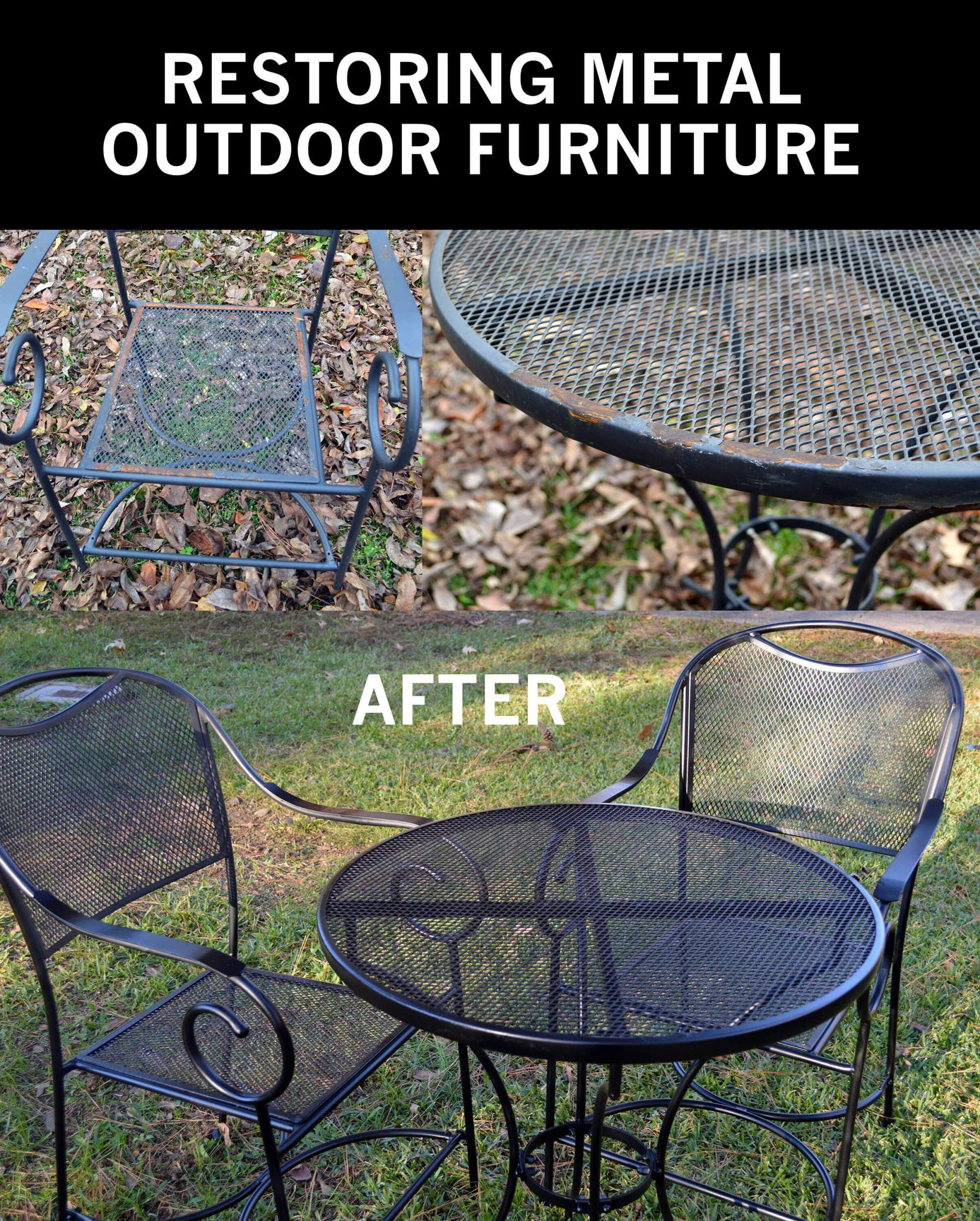 Restore Metal Outdoor Furniture To Like New Patio inside proportions 2000 X 2492