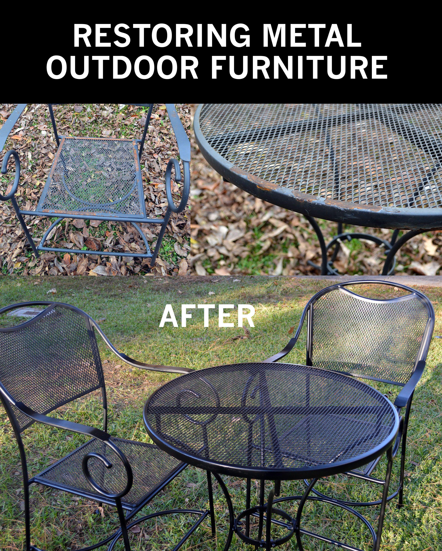 Restore Metal Outdoor Furniture To Like New Patio regarding proportions 2407 X 3000