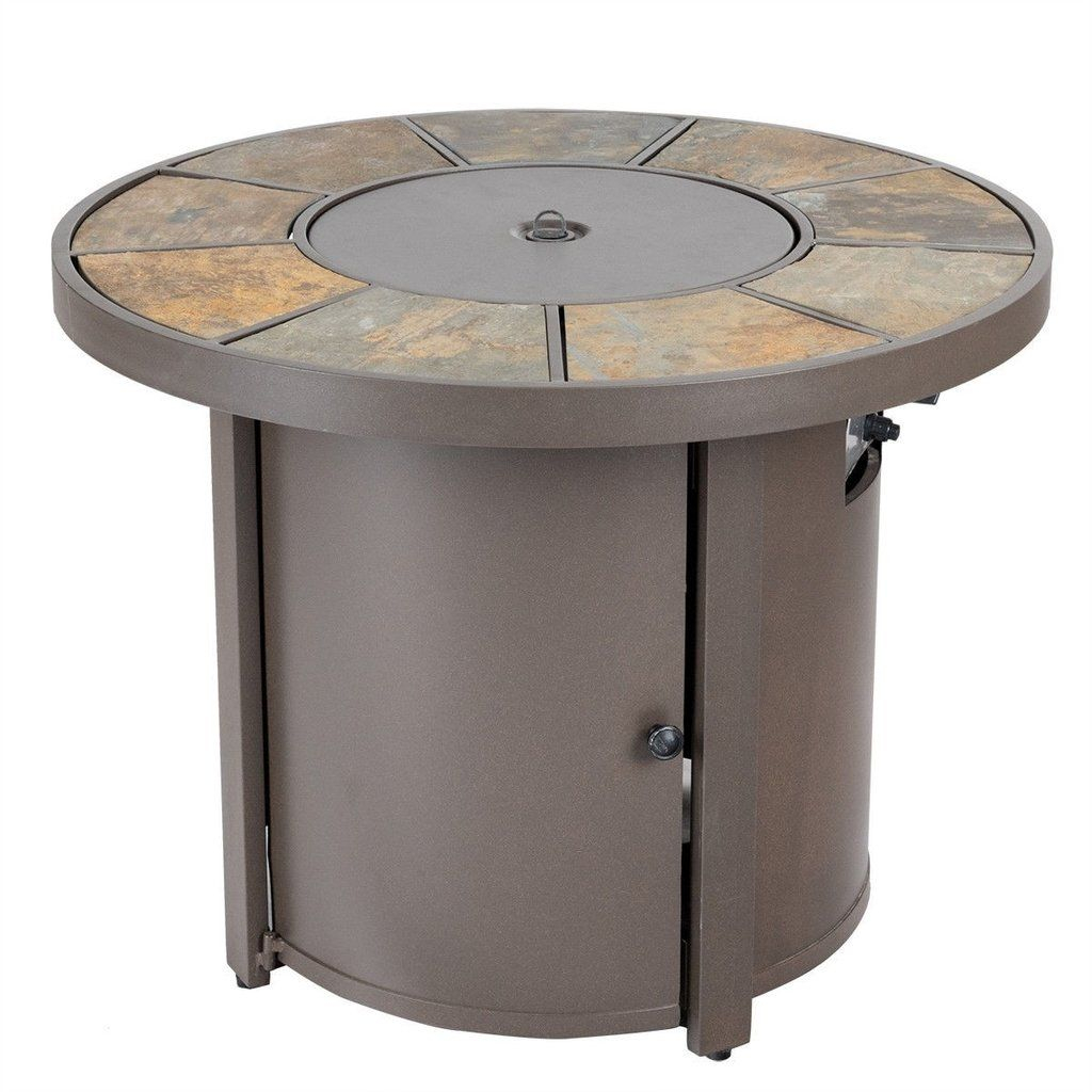 Slate Fire Pit Gas Powered 50000 Btus Outdoor Patio Heater throughout proportions 1024 X 1024