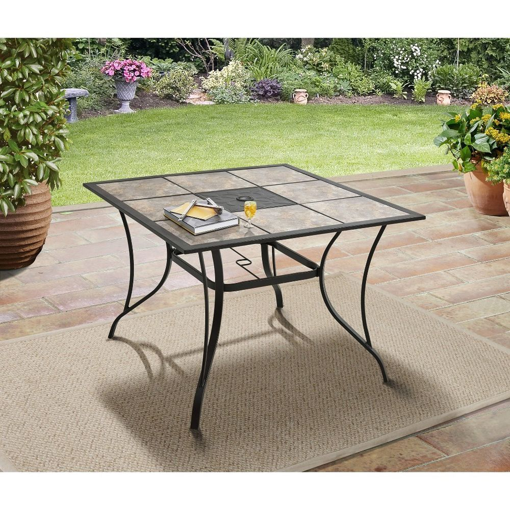 Small Outdoor Dining Table Square Patio Garden Decor Al pertaining to proportions 1000 X 1000