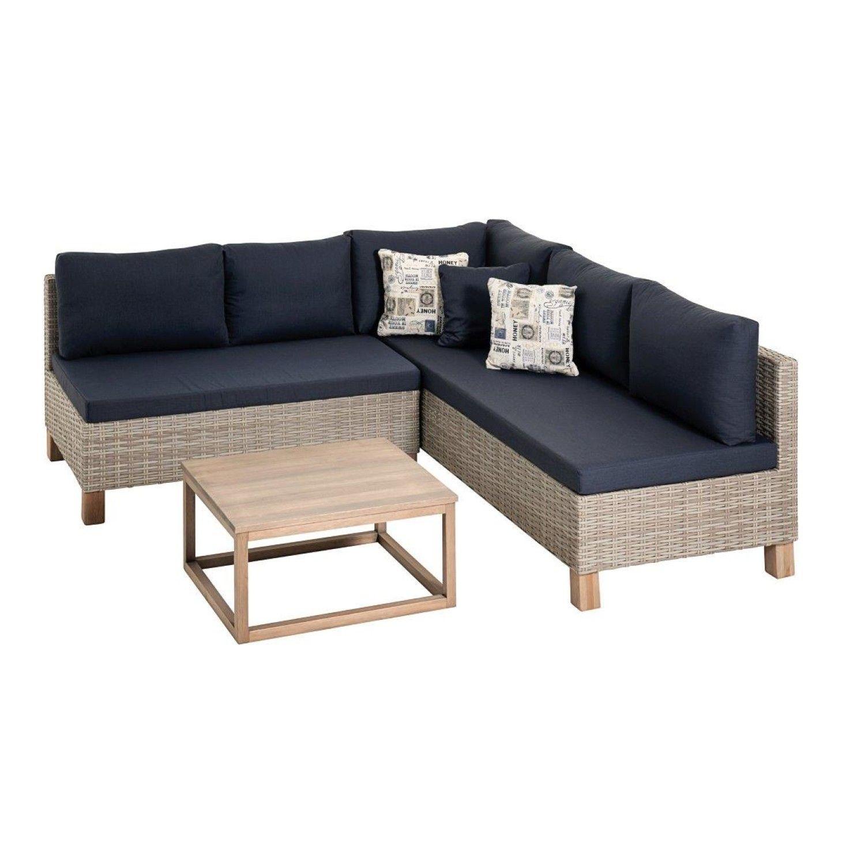 Terrace Leisure 1990x2020mm Nambiti Wicker Lounge Set with regard to proportions 1460 X 1500