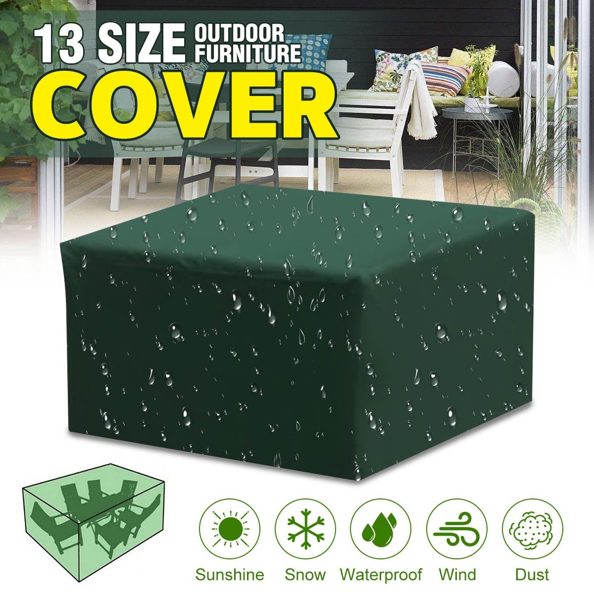 Us 1008 52 Off13sizes Waterproof Outdoor Garden Furniture Covers Rain Snow Chair Covers For Patio Sofa Table Chair Dust Proof Cover In All Purpose regarding size 1200 X 1200