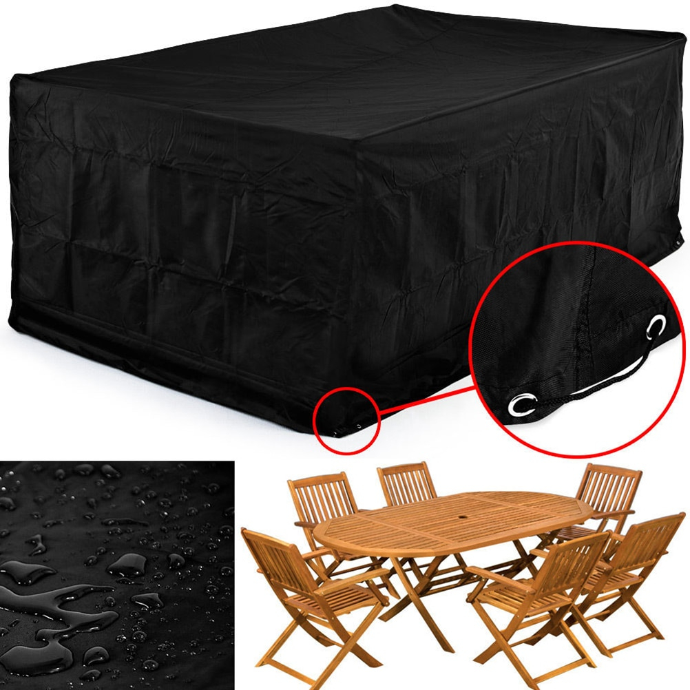 Us 150 46 Off12312374cm Waterproof Dustproof Furniture Cover Breathable Garden Rectangular Outdoor Furniture Waterproof Cover In All Purpose pertaining to dimensions 1002 X 1002