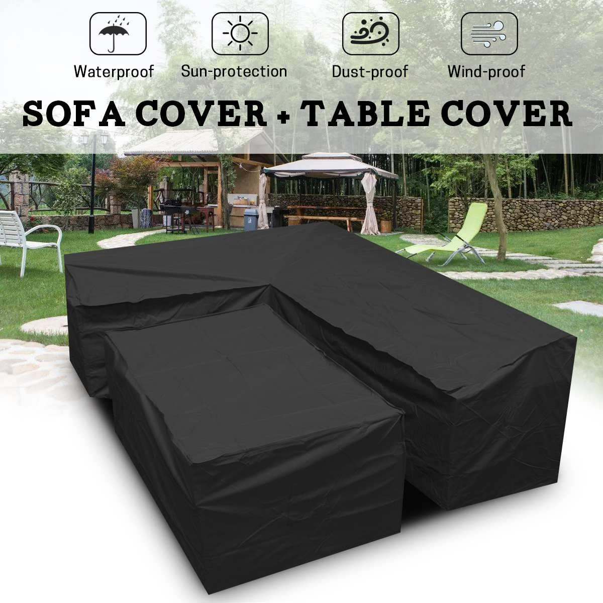 Us 3069 32 Offwaterproof Shape Furniture Covers Outdoor Patio Garden Lrain Snow Chair Covers Sofa Table Chair Dust Proof Protector Cover In in proportions 1200 X 1200