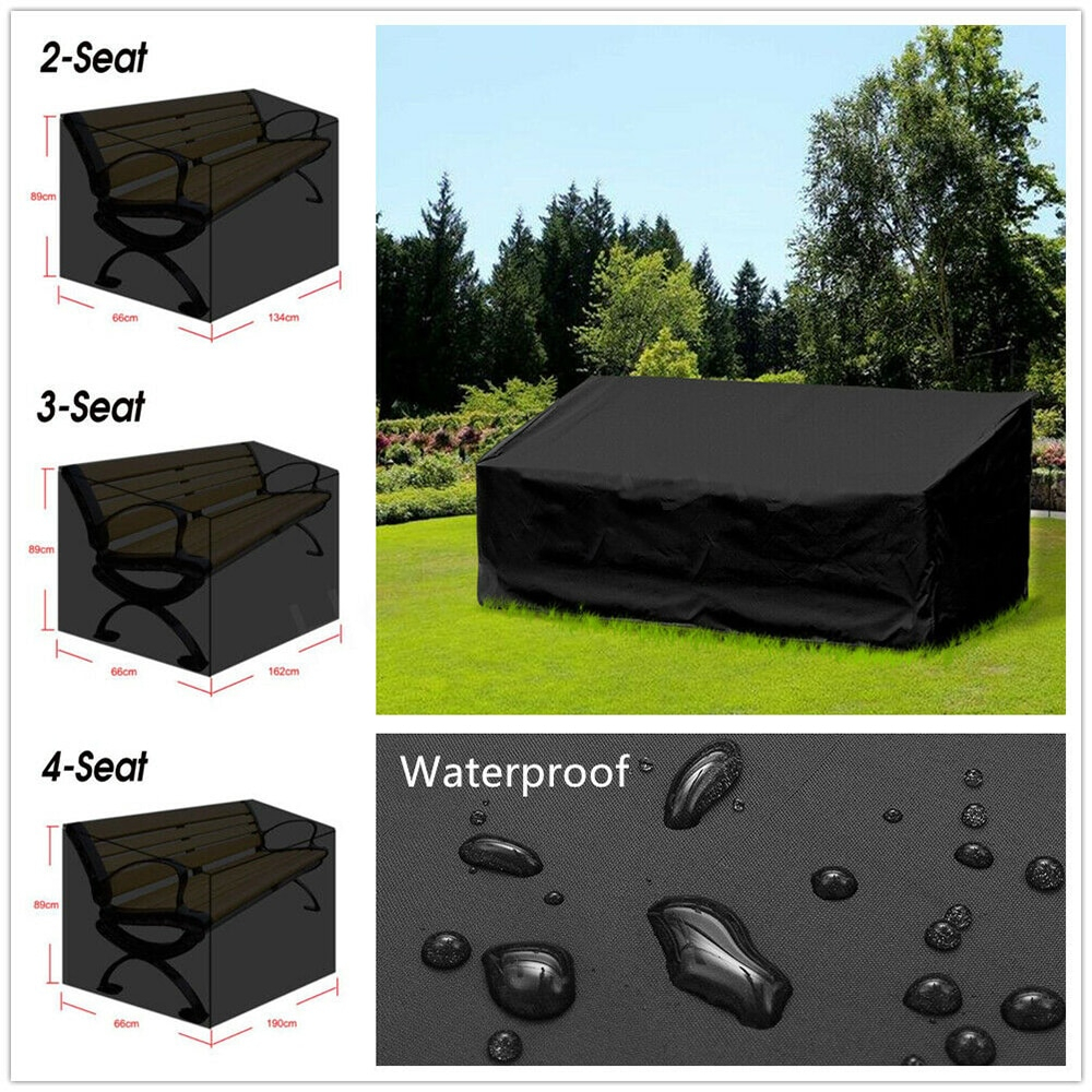 Us 989 40 Offgarden Bench Dustproof Cover Waterproof Breathable Outdoor Bench Seat Cover Black Outdoor Furniture Cover Uv Protection Useful On with regard to size 1000 X 1000