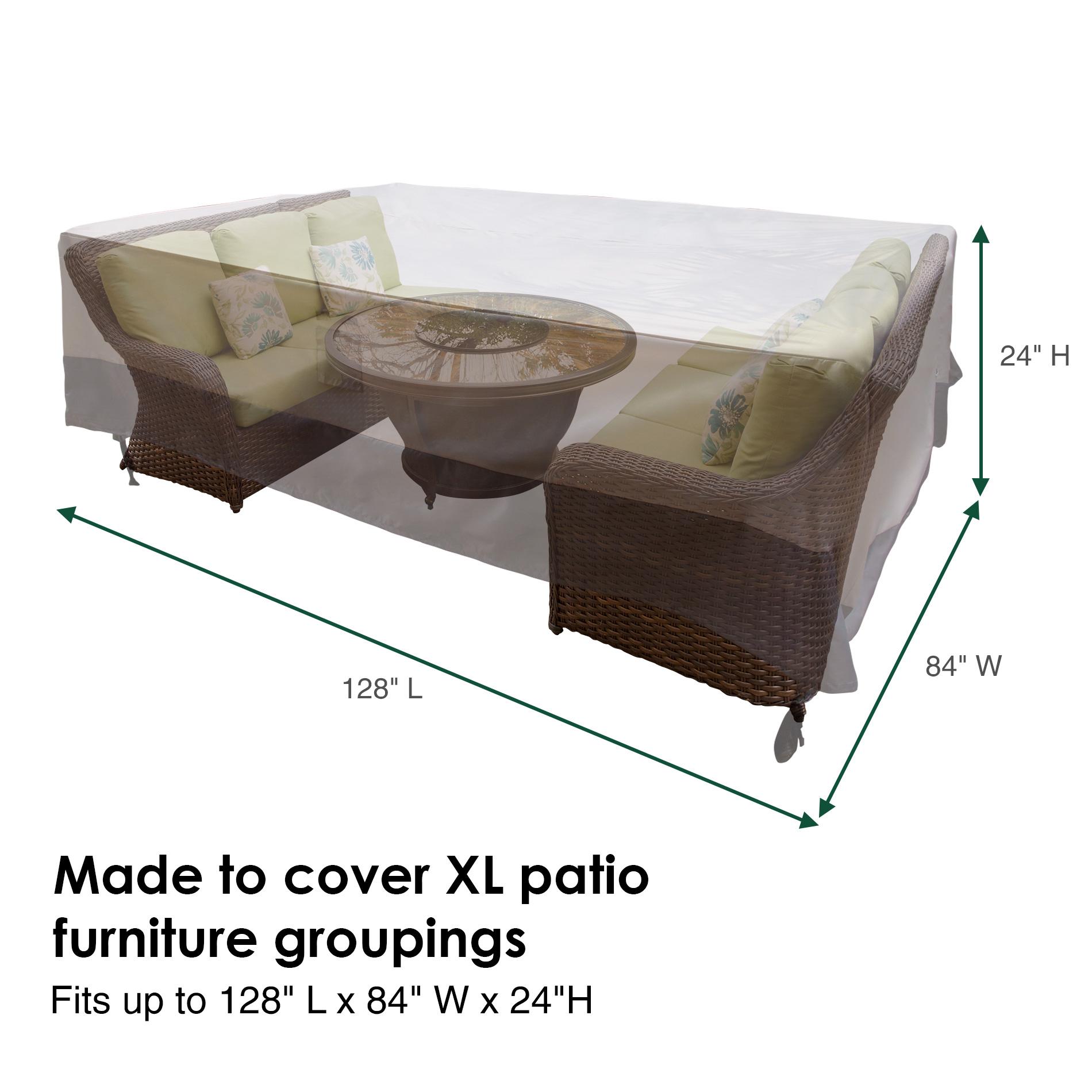 Water Resistant Rectangular Outdoor Patio Set Cover Reusable for measurements 1900 X 1900