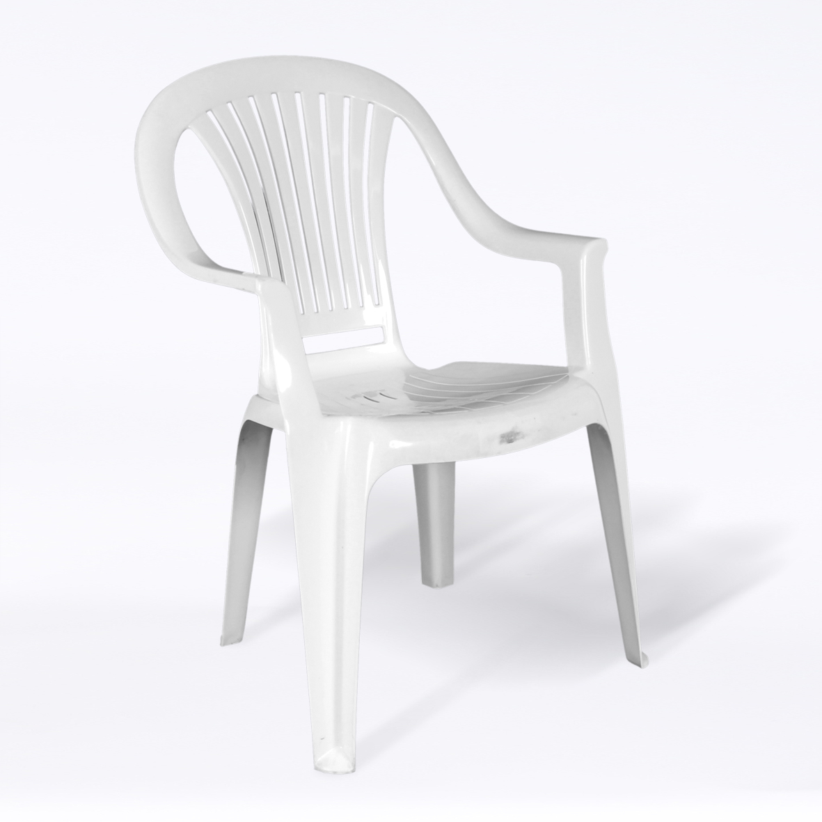 White Plastic Patio Chair with sizing 1181 X 1181