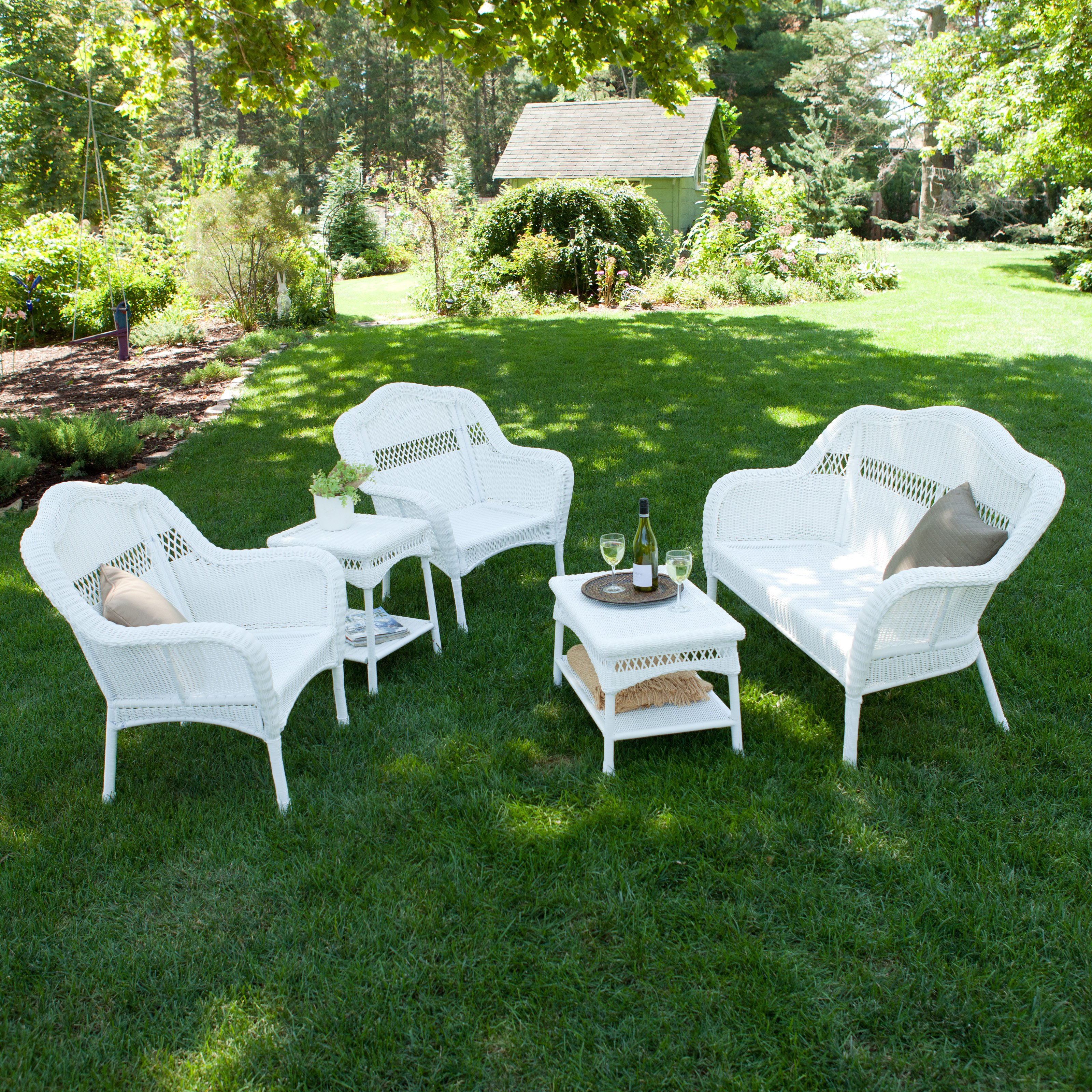 White Resin Wicker Patio Furniture Ideas Outdoor for sizing 3200 X 3200