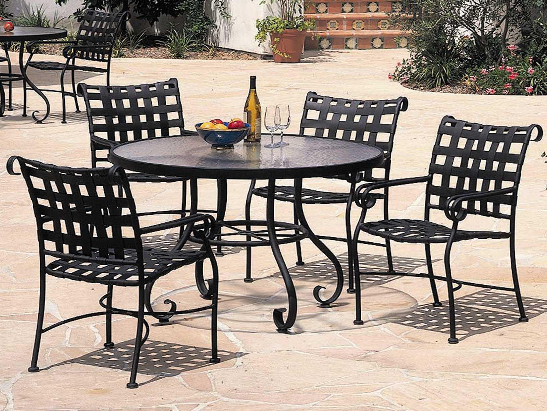 Woodard Ramsgate Aluminum Dining Set throughout proportions 5760 X 4320