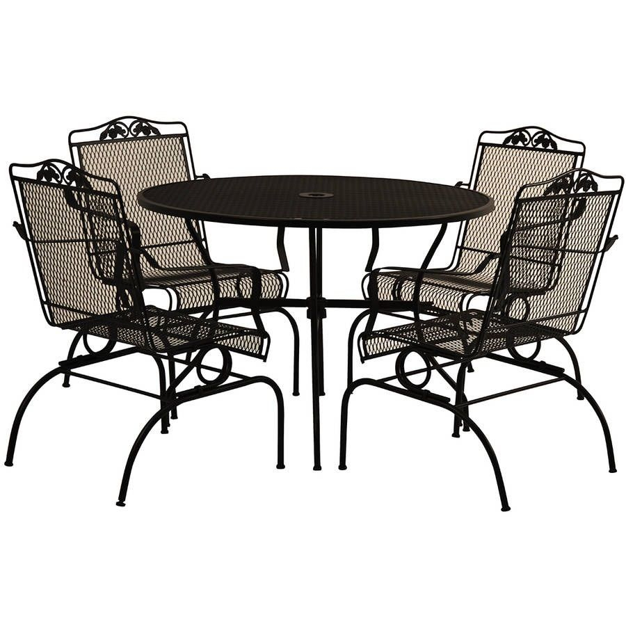 Wrought Iron Dining Set 5 Piece Action Rocking Patio Outdoor with measurements 900 X 900