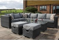 Yakoe Garden Modular 8 Seater Grey Rattan Corner Sofa Set intended for measurements 1200 X 1200